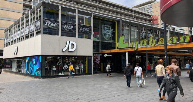 (Nederlands) JD Sports op de Lijnbaan in Rotterdam ondergaat metamorfose